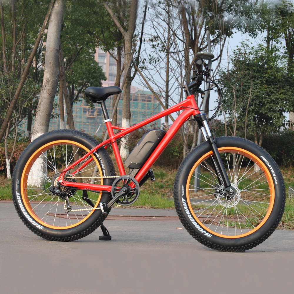 Land Cruiser 26inch 4.0 fat tire electric sand motorcycle with eight fun motor