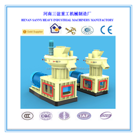 SY better service Vertical Ring Die Wood Pellet Machine with Auto Lubrication System
