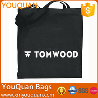 45*45cm Standard Size 12 OZ 100% Cotton Black Canvas Promotions Canvas Tote Bags