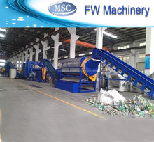 Hot sale China supplier pe pp film bottle crushing washing drying plastic recycle line