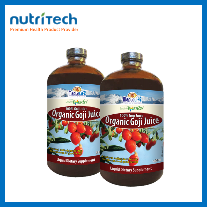 Goji Juice Added Antioxidant Vitamin and dietary fiber Promote Health