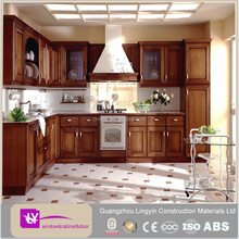 classical complete set solid wood lacquer kitchen cabinet