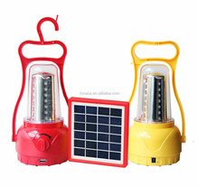 Portable LED Camping lantern with mobile charger, Solar Camping hanging lights