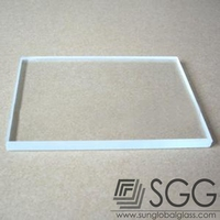 3.2mm transparent solar panel Ultra white float glass manufacturer