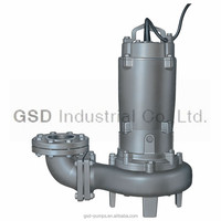 CP submersible non-clog sewage pump with auto-coupling device