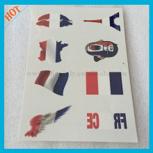 France temporary face flag free tattoo supply samples