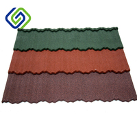 High quality aluminum zinc plate colorful stone coated metal roofing tile, China heat resistant aluminum building material