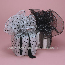 Beautiful organza gift bag with drawstring for wedding organza bag