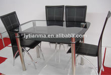glass furniture dining table set
