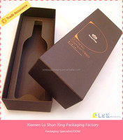 Small High End Unique Luxury Paper Wine Gift Box cardboard