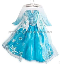 2015 Frozen princess dress frozen elsa costume girls dress cosplay costume in frozen
