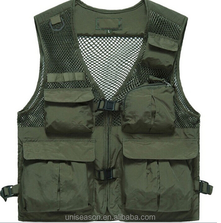 OEM custom-made multi pocket fishing vest men