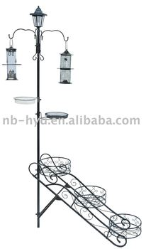Multi Bird Feeder Station with Planter Stand