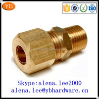 Factory male female swivel electrical brass connector bolt for cable ISO9001