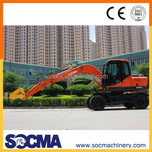 8T excavator for sale with hydraulic breaker wheel excavator
