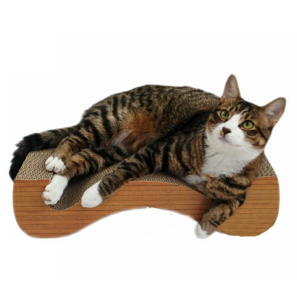 M shaped Corrugated cardboard cat pet scratcher