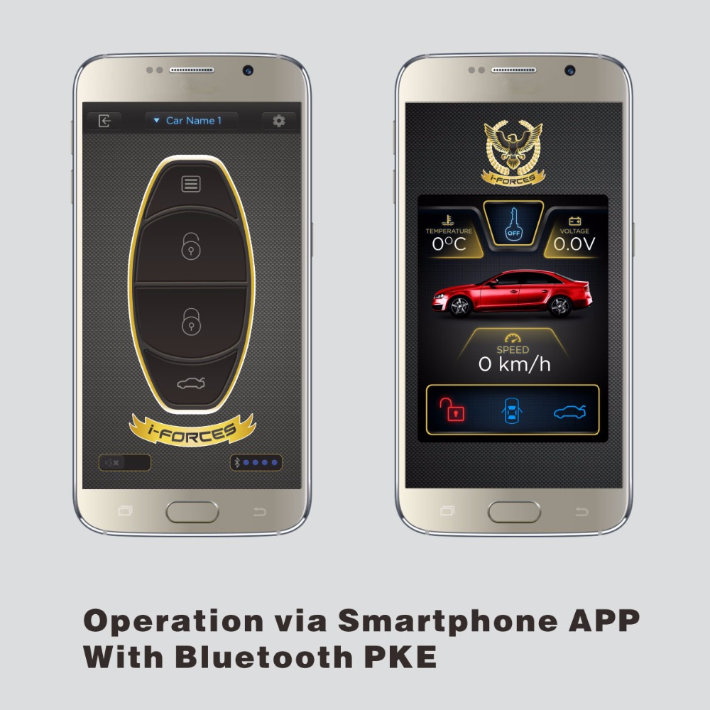 2017 Newest Bluetooth Car Alarm with PKE and Smart Phone APP