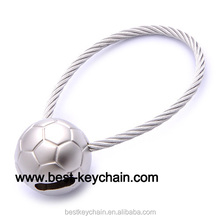 promotion blank football metal mini soccer ball key chain (BBK52122-)