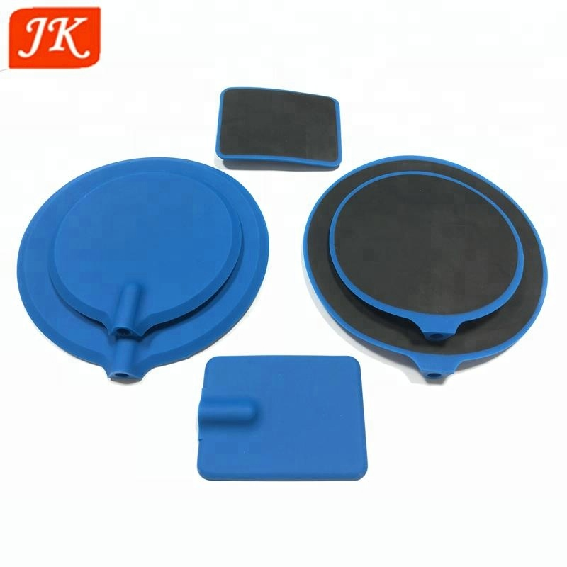 factory price electrical conductive silicone electrode material pads various shape