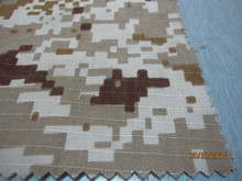 Polyester cotton rip stop camouflage fabric