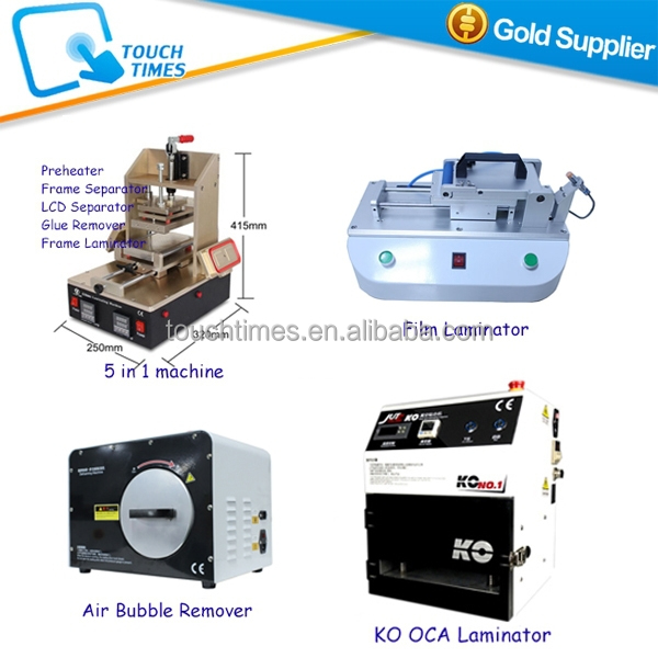 Mobile phone repair equipment for Max 7inch LCD Touch Glass Refurbish for Samsung S 1 2 3 4 5 6 Note 2 3 4 by OCA Film