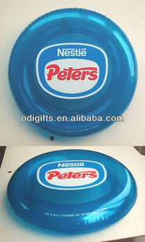 Promotional inflatable frisbee