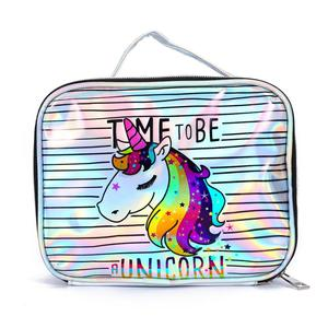 Ginzeal Customized Unicorn Cartoon Cosmetic Brush Pouch Holographic PVC Makeup Bag