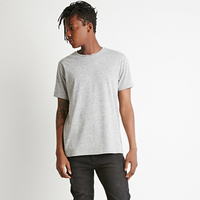 High quality fashion simple grey cotton/polyester tshirts plain