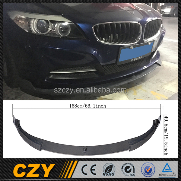 E89 35I Racing Custom Auto Carbon Front Lip Splitter For BMW Z4 Convertible 09-13