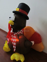 giant inflatable turkey with led lights inflatable decoration for sale
