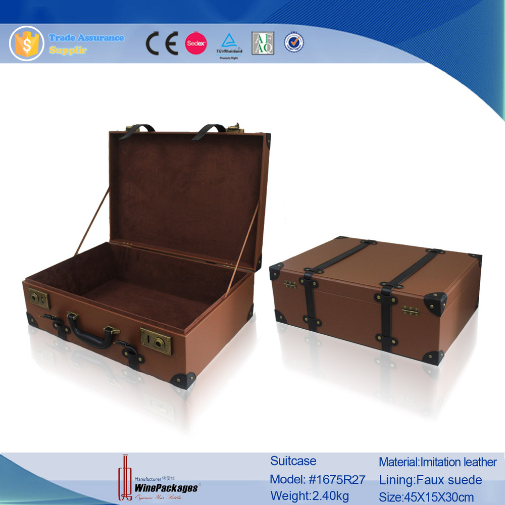 Trade Assurance Supplier Vintage Portable Travel SuitCase