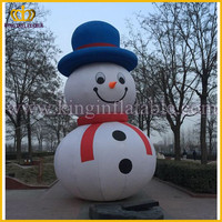 Lovely Hot Sale Inflatable Christmas Santa And Snowman