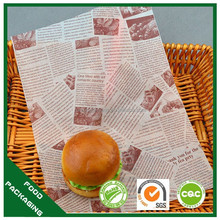grease paper,oil proof paper,burger wrapping paper