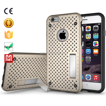 shockproof otterboxing hybrid stand back heat sinking net phone case for iphone 6s