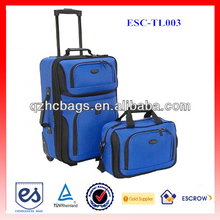 1200D Polyester Royalblue Carry-on Two Piece Travel Luggage