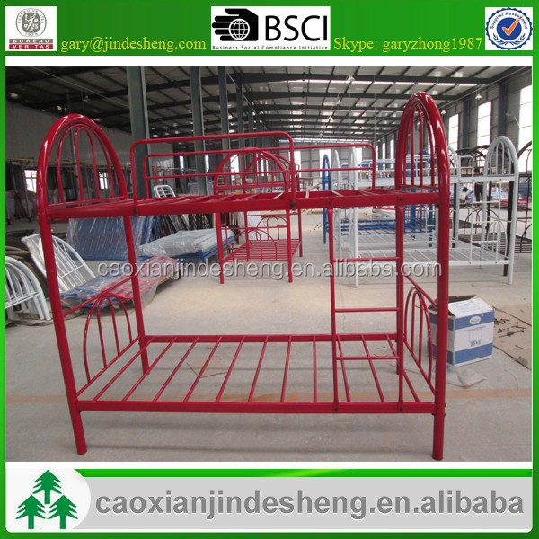 Stock bed easy assembled Powder coating metal bunk bed