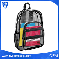 Transparent pvc waterproof backpack for kids , clear carry bag