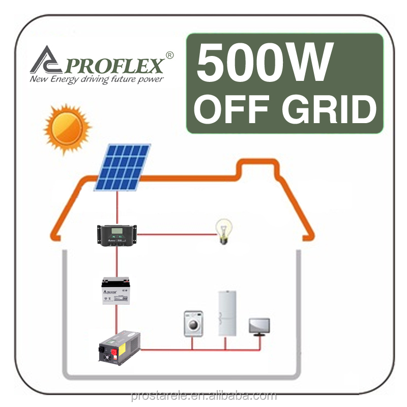 Proflex home 500W solar photovoltaic power system / solar energy generator for Africa