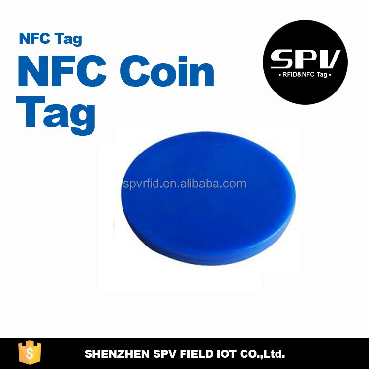 Passive RFID ISO11784/11785 EM4205 125/134.2KHz LF Coin Tag for Tickets/Coupon/Voucher Transfer