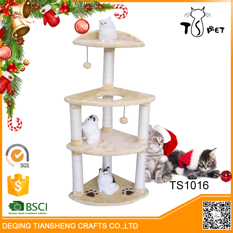 Christmas Sales Pet Toys Type And Eco-Friendly Feature Cat Tree Sisal Materials