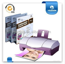 Yesion 45g 58g 70g 80g 90g 100g fast dry tacky sublimation transfer paper a4& roll