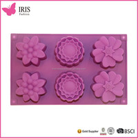 Wholesale alibaba hot sellingSilicone flower shape cake Molds