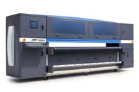 High efficiency digital UV LED flatbed and roll to roll printer hybrid