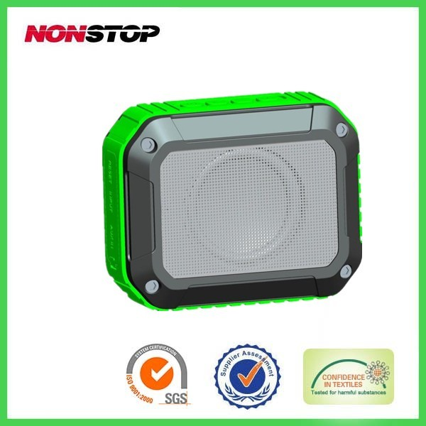 2014 new design outdoor waterproof speaker bluetooth speaker with MIC function With voice indication function