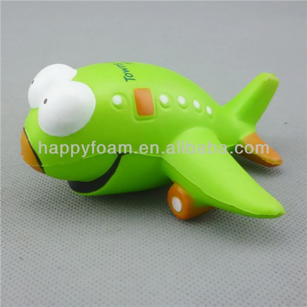 plane with big eyes shape anti stress reliever