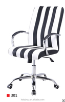 Unique design PU leather computer striped office chair