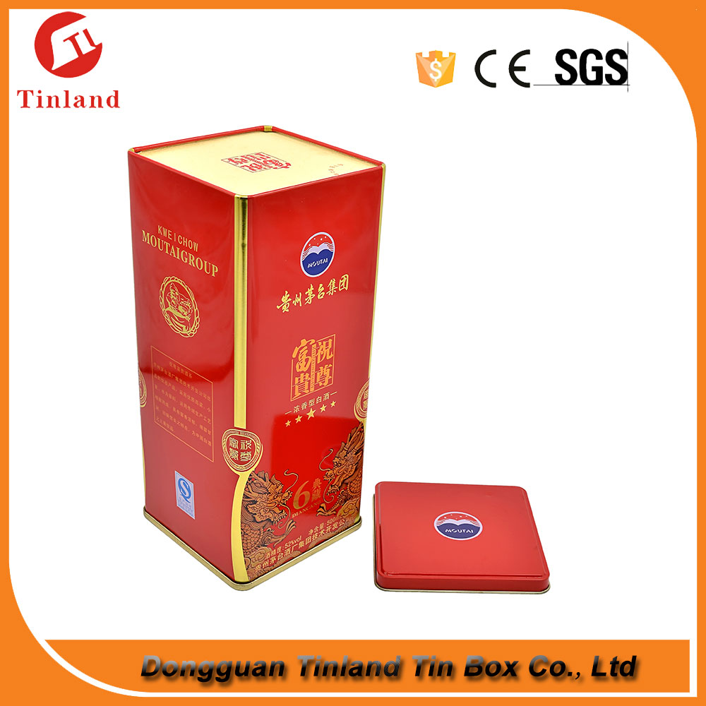 Empty Tin Box For Luxury Wine Wholesale