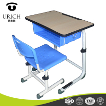 Comfortable school desk and chair adjustable single student desk chair furniture school set