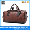 High quality low MOQ wholesale duffel bag waterproof men handle pu deffel bag for travelling