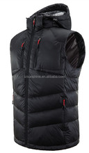 2016 Winter Warm Down Cotton Black Vest with many pockets